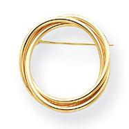 14K Gold Circle Pin