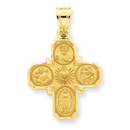 14K Gold 4-Way Medal Pendant