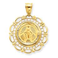 14K Gold Blessed Mary Medal