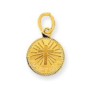 14K Gold Small Baptism Charm