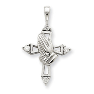 14K WhiteGold Diamond Cross