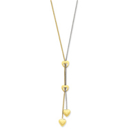 14K Two-Tone Gold Heart Necklace