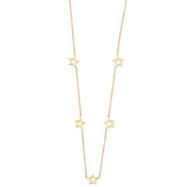 14K Gold Adjustable Star Necklace