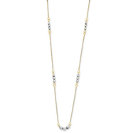 14K Two-Tone Gold Mirror Beaded Necklace