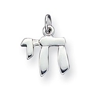 Sterling Silver Chai Life Charm