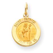 14K Gold Saint Patrick Medal Charm