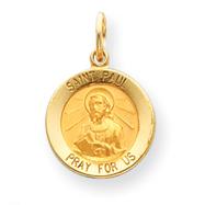 14K Gold Saint Paul Medal Charm