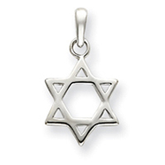 Sterling Silver Antiqued Star of David