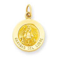 14K Gold Our Lady of Cuba Medal Charm