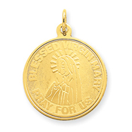 14K Gold Blessed Virgin Mary Charm