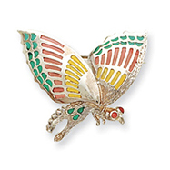 Sterling Silver Multicolored Enameled Insect Pin