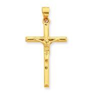 14K Gold Hollow Crucifix Pendant