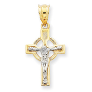 14K Two-Tone Gold Crucifix Charm