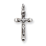 Sterling Silver Antiqued Crucifix Pendant