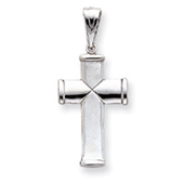 K White Gold Reversible Cross Pendant