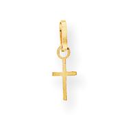 14K Gold Tiny Cross Charm