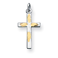Sterling Silver Vermeil Cross