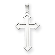 14K  White Gold Passion Cross Pendant