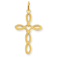 14K Gold Laser Designed Cross Pendant