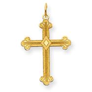 14K Gold Laser Designed Cross Charm