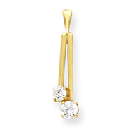 14K Gold Diamond Pendant