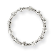 14K  White Gold  Diamond Circle Chain Slide