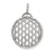 14K White Gold Fancy Diamond Pendant