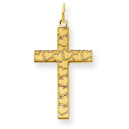 14K Gold Laser Designed Cross Charm