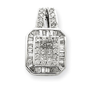 14K Two-Tone Gold Diamond Pendant