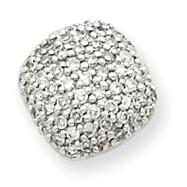 14K White Gold Diamond Pendant