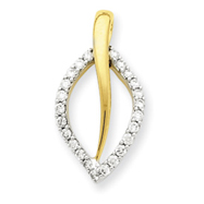 14K Two-Tone Gold Fancy Diamond Pendant