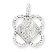 14K  White Gold Vintage Diamond Pendant