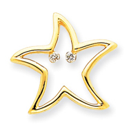 14K Gold Diamond Star Pendant