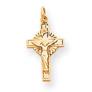14K Gold INRI Crucifix Charm