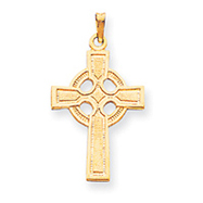 14K Gold Celtic Cross Charm