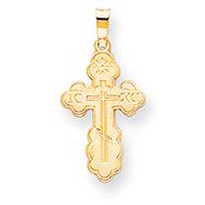 14K Gold Eastern Orthodox Cross Charm