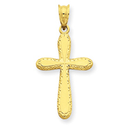 14K Gold Polished Cross Pendant