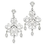 14K White Gold & Rhodium Filigree Chandelier Earrings