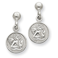 14K White Gold Raphael Angel Earrings