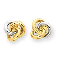 14K Gold & Rhodium Love Knot Earrings