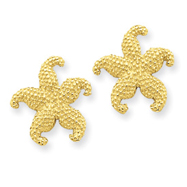 14K Gold Starfish Post Earrings