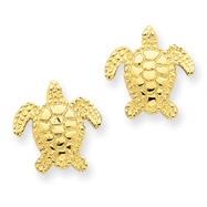 14K Gold Sea Turtle Post Earring