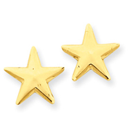 14K Gold Nautical Star Post Earrings