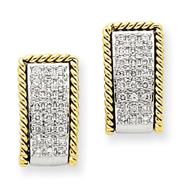 14K Two-Tone Gold Earring