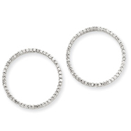 14K White Gold 1/2Ctw Circle Diamond Earrings