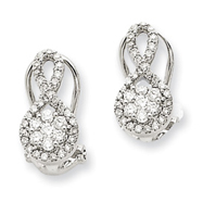 14K White Gold 1/2Ctw Diamond Earrings