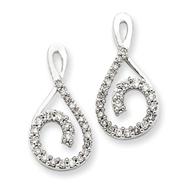 14K White Gold Earring