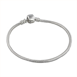 Sterling Silver Bead Bracelet with Clasp