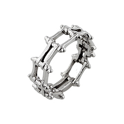 Sterling Silver Bike Chain Ring