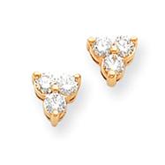14K Gold Diamond Earring